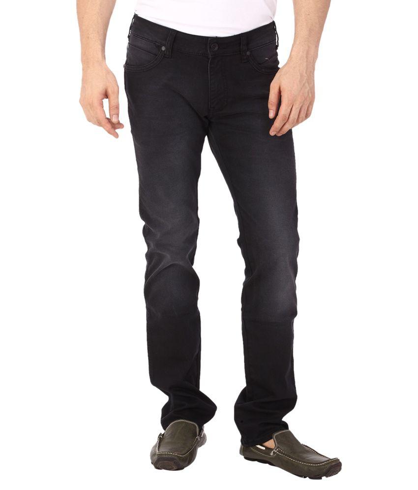 Wrangler Black Cotton Jeans