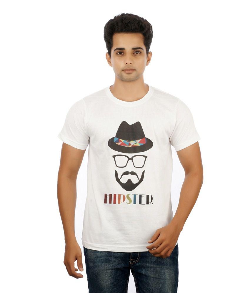 Mannmohh White Cotton Round Neck T-shirt