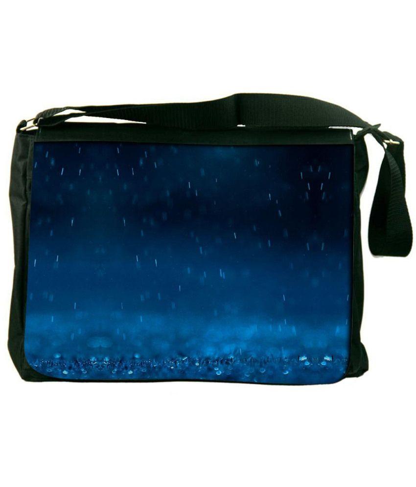 Snoogg Blue Laptop Messenger Bag Blue Messenger Bag