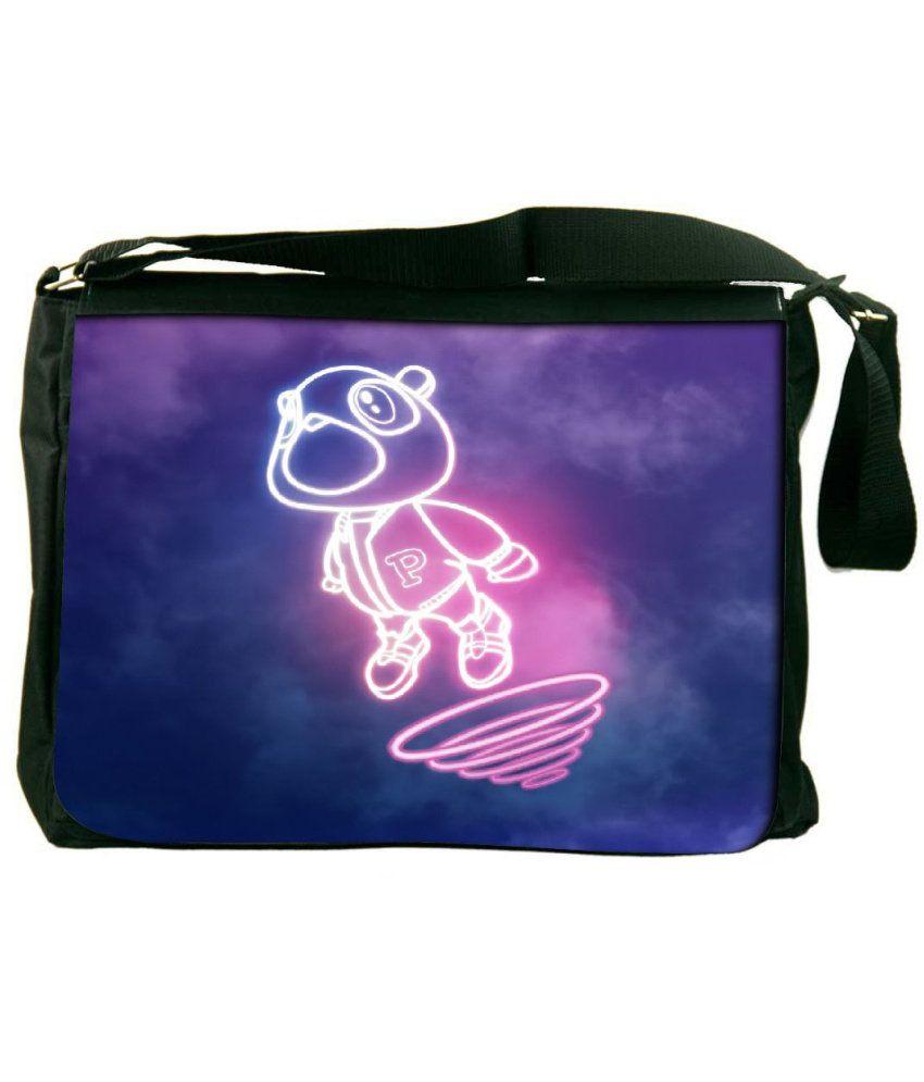 Snoogg Blue and Pink Laptop Messenger Bag Blue and Pink Messenger Bag