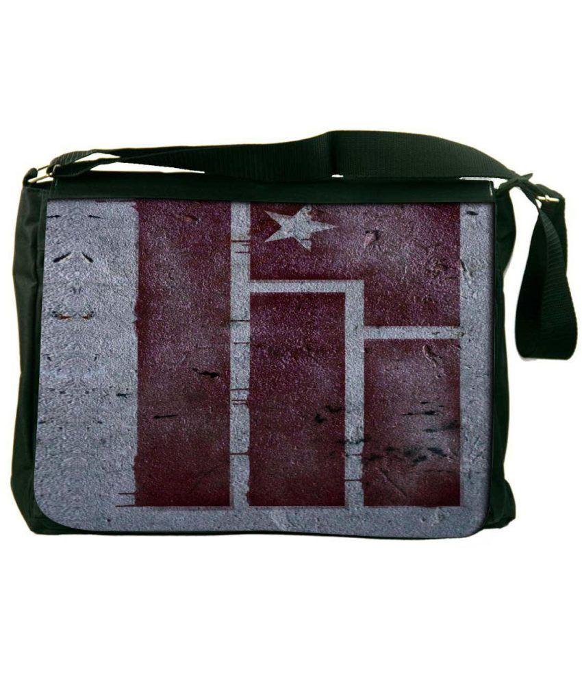 Snoogg Gray and Brown Laptop Messenger Bag Gray and Brown Messenger Bag