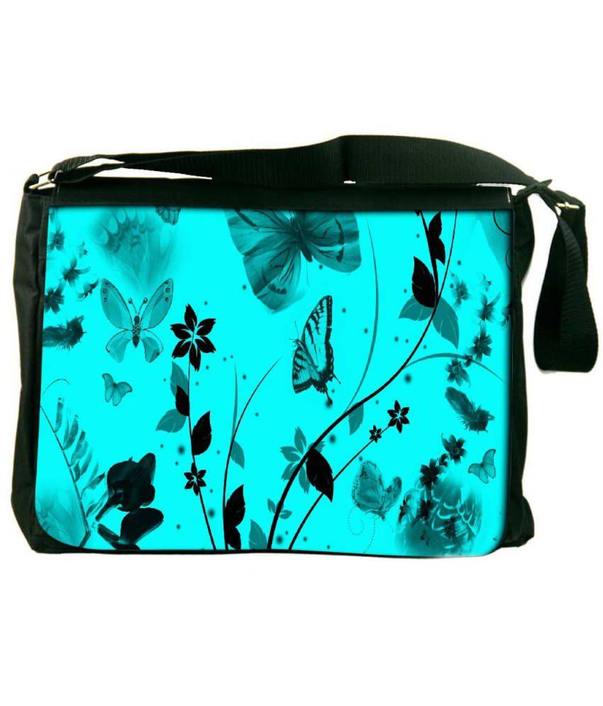 Snoogg Turquoise Laptop Messenger Bag Turquoise Messenger Bag