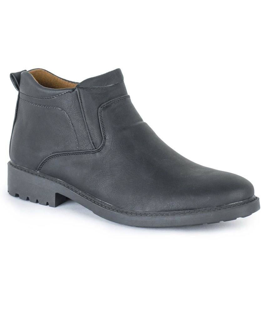 Harry Hill Black Leather Boots