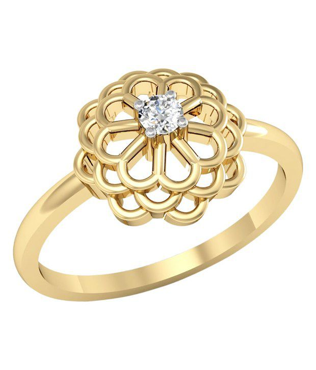 Kataria Jewellers The Elaina BIS Hallmarked Gold and Real Certified Diamonds Designer Ring