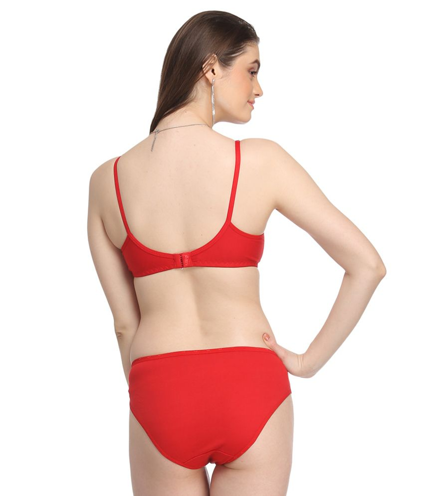 7cd51ac5758e Buy Lily Red Bra & Panty Sets Online at Best Prices in India - Snapdeal