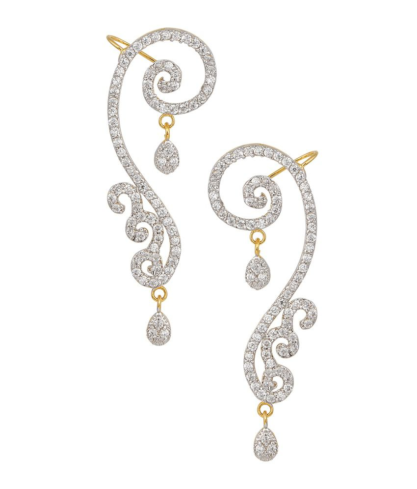 Archi Collection White Gold Plated Designer Ear Cuff