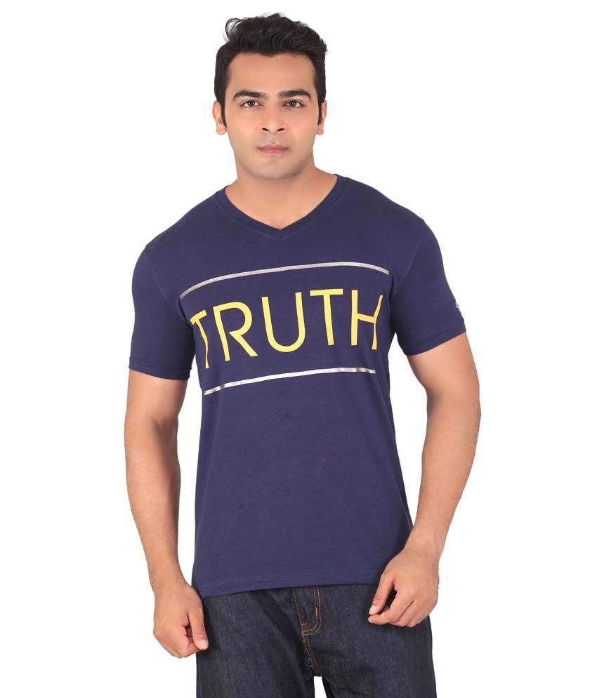 Radbone Blue Cotton Blend T-Shirt