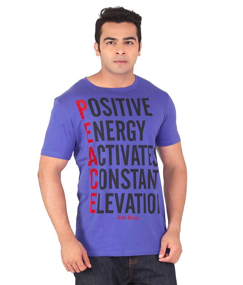 Radbone Purple Cotton Blend T-Shirt