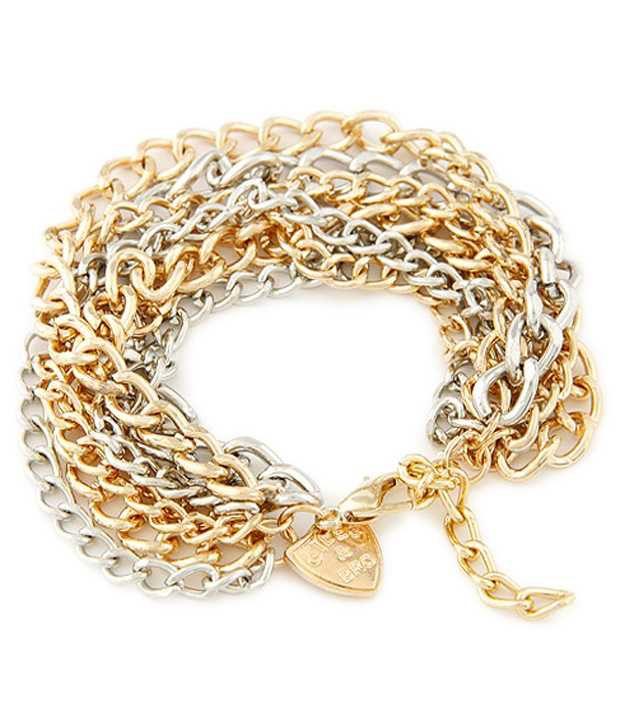 Cinderella Fashion Jewelry  Golden & Silver Bracelet for Women
