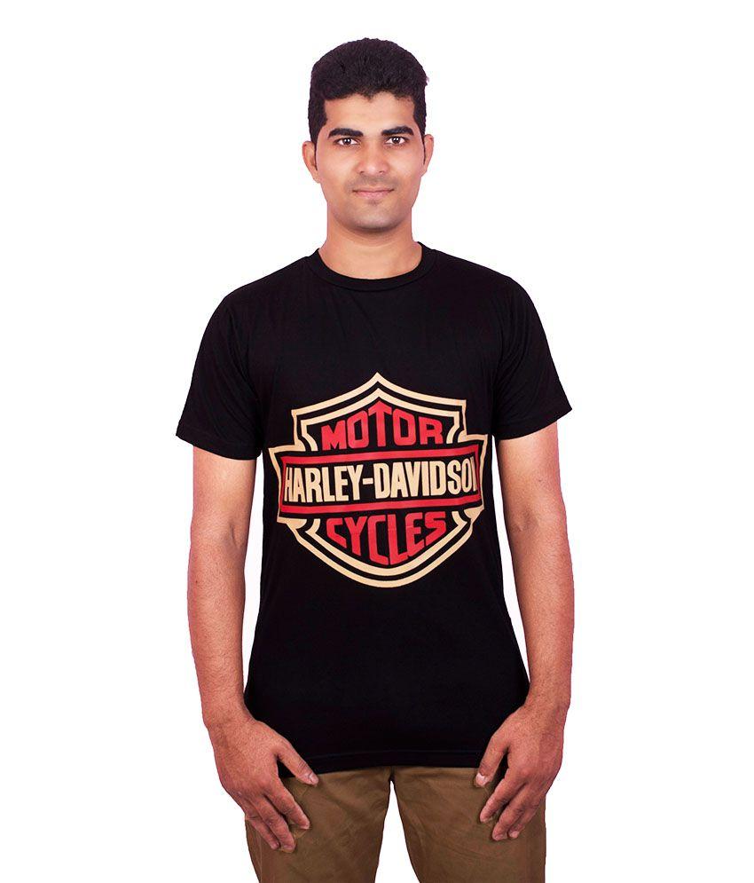 Dkclues Black Cotton T- Shirt For Men