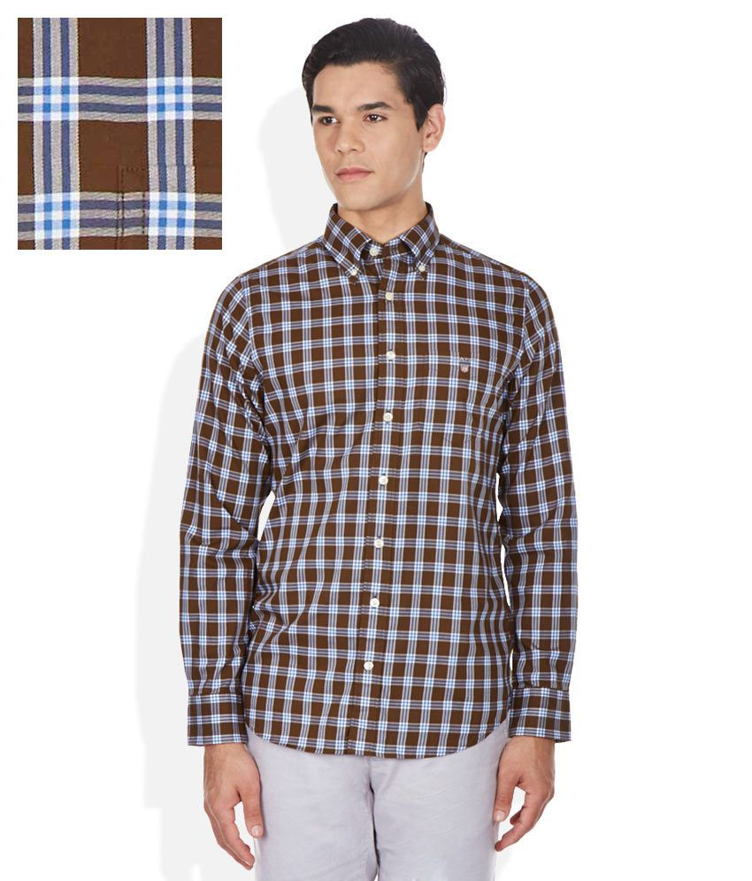 1af940172 GANT Brown Checkered Shirt - Buy GANT Brown Checkered Shirt Online at Best  Prices in India on Snapdeal