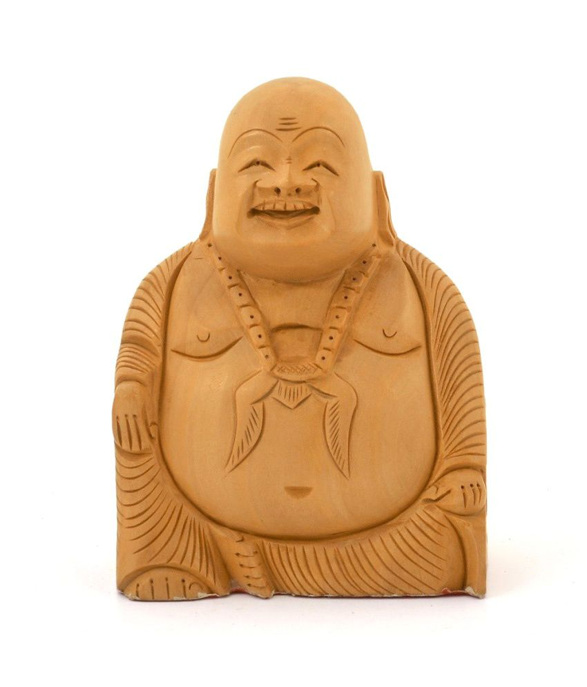 Mewar Handicrafts Brown Wood Buddha Idol