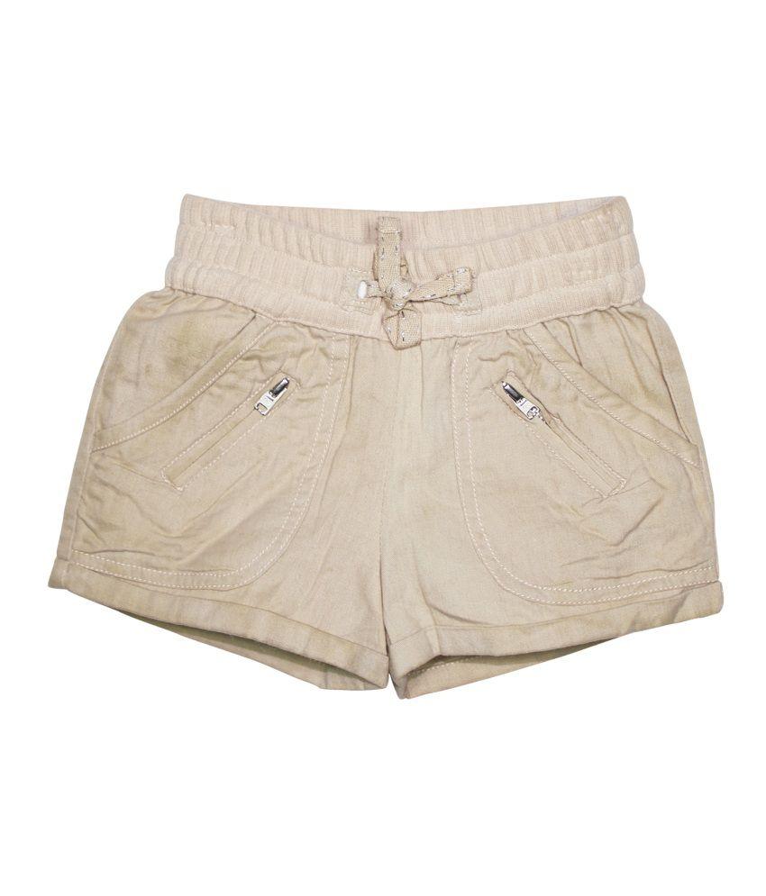 Fs Mini Klub Beige Cotton Shorts
