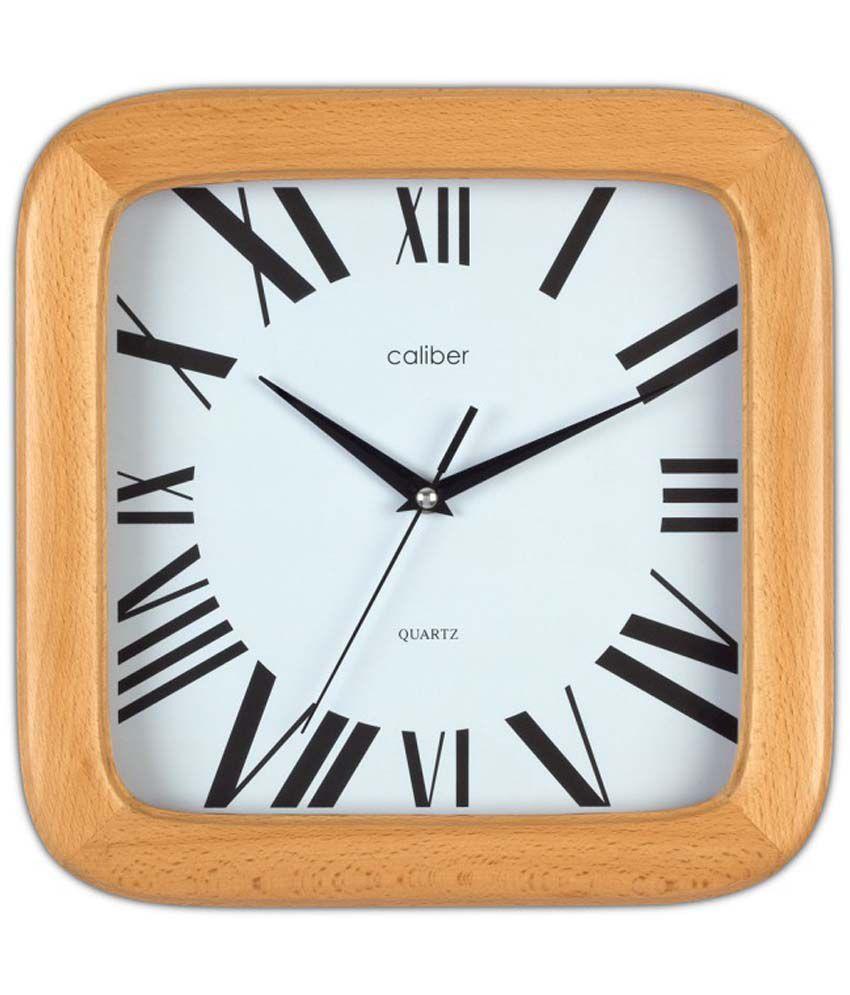 Opal Textured Wooden Premium Clocks