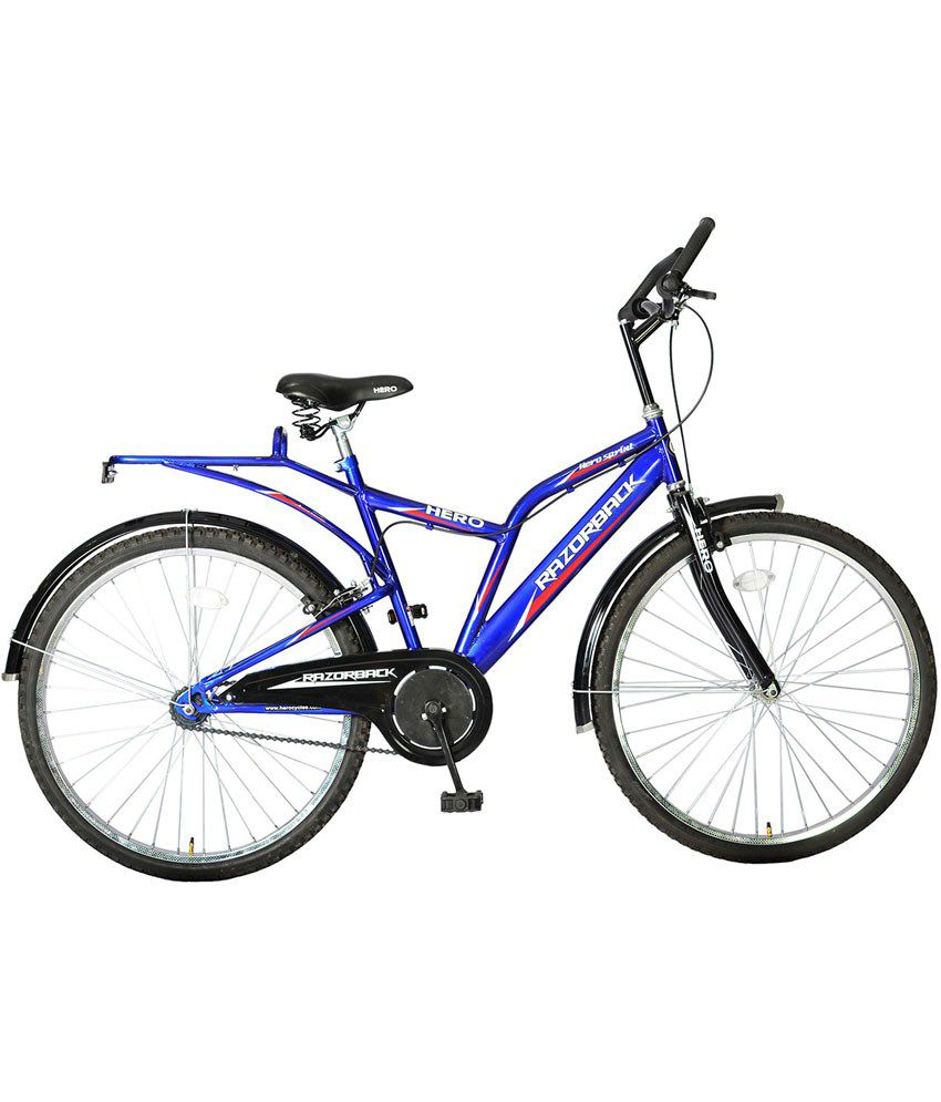 Hero blue razorback ne 26t adult mountain bicycle buy for How to buy a mountain