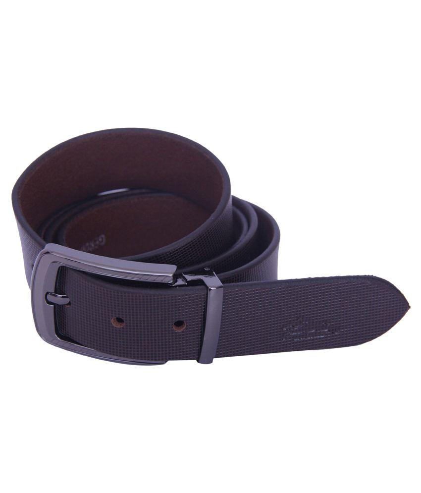 L World'S Mens Formal Brown Leather Belt