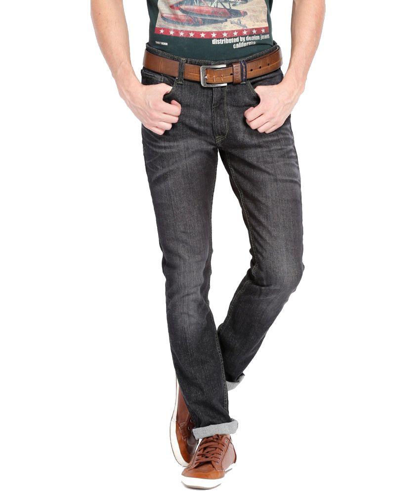 Locomotive Black Cotton Blend Jeans