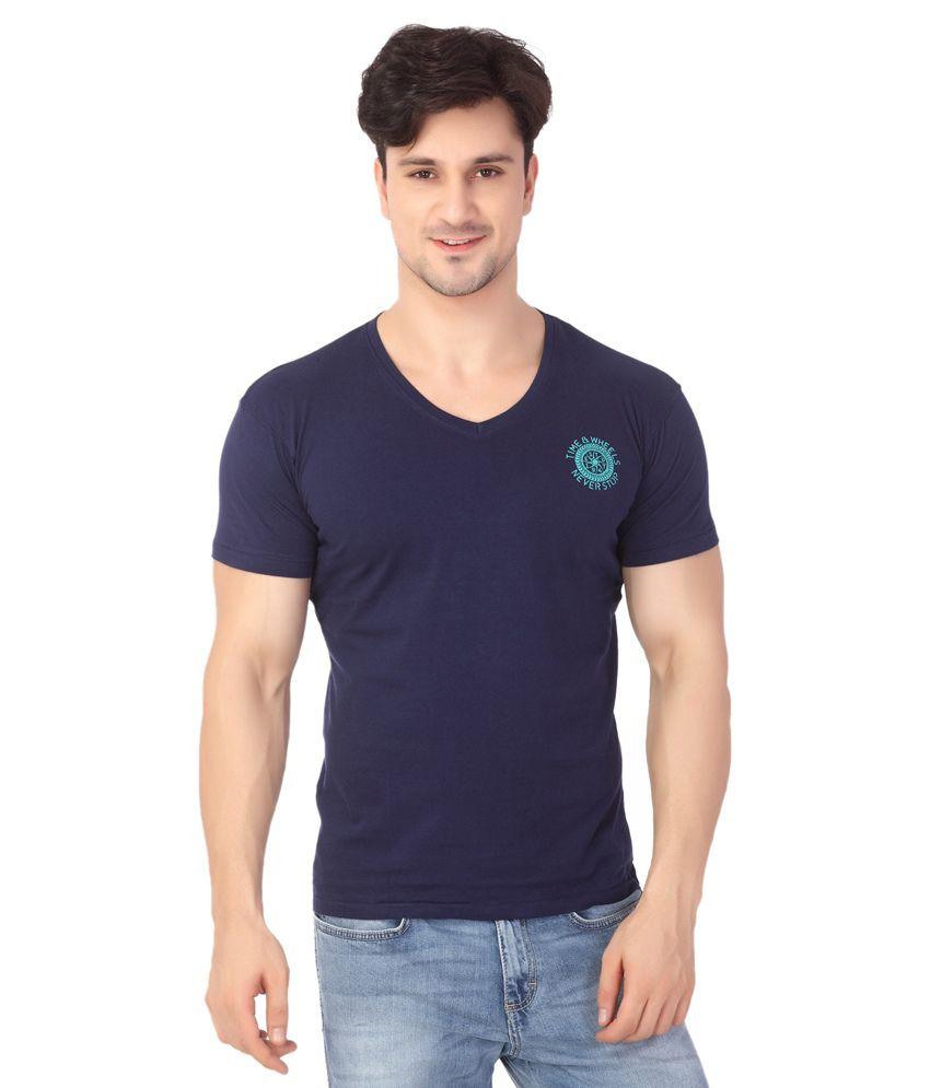 Wrangler Blue Cotton T Shirt