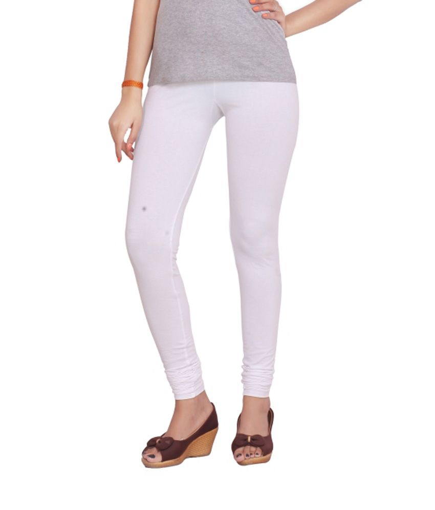 Teen Fitness White Cotton Leggings Price in India - Buy Teen ...