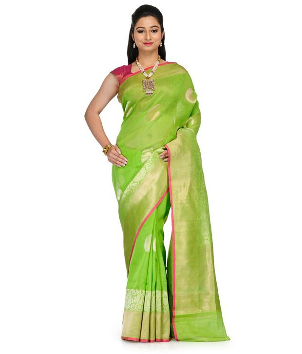 Fabroop Green Cotton Saree