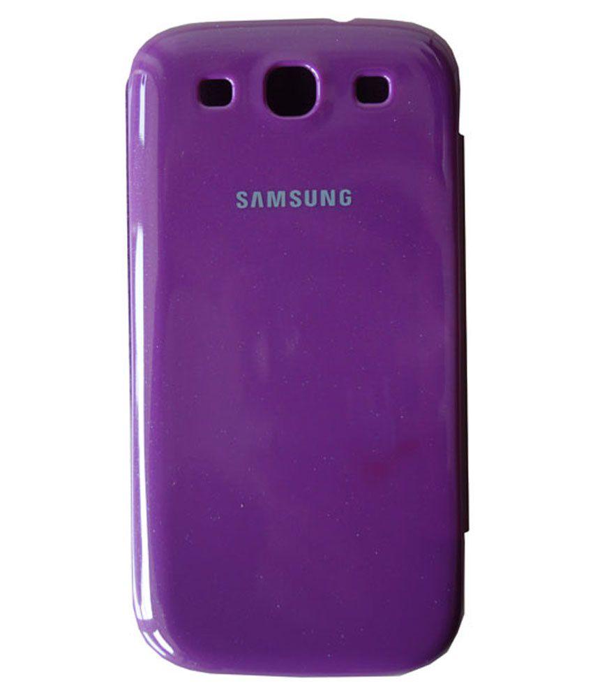 N+ India Flip Cover For Samsung Galaxy Star Advance-Purple ...