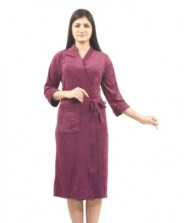 568c4ed267 Buy Superior Purple Bathrobes Online at Best Prices in India - Snapdeal