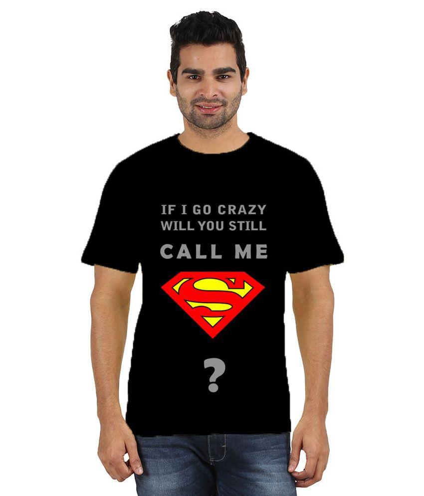 Doozy Shopping Black Cotton T-Shirt