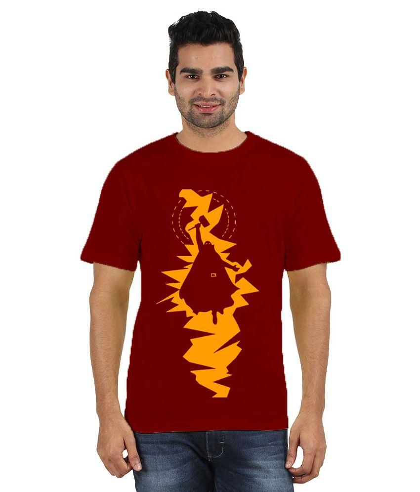 Doozy Shopping Maroon Cotton T-Shirt