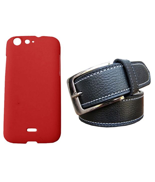Winsome Deal Black Belt with Back Cover Case for Micromax Canvas 4 A210