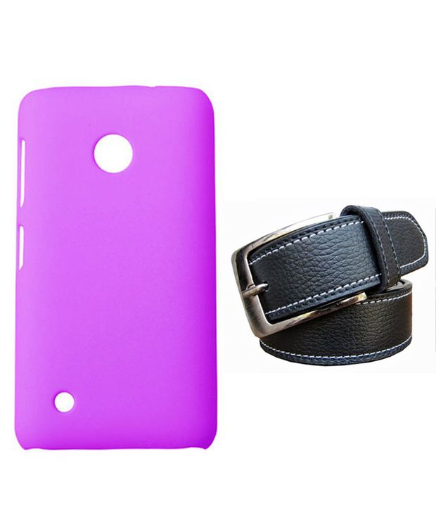 Winsome Deal Black Belt with Back Cover Case for Nokia Lumia 530