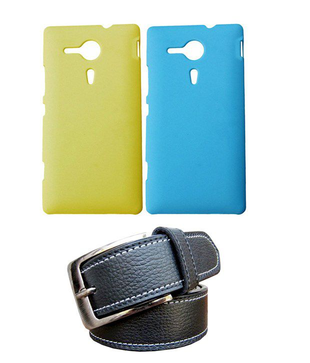 Winsome Deal Black Belt with 2 Back Cover Cases for Sony Xperia SP