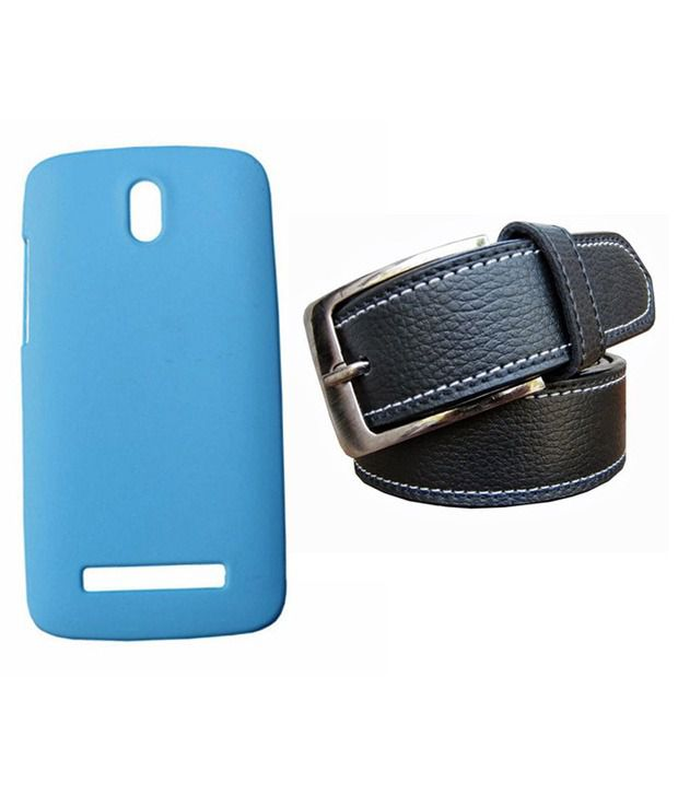 Winsome Deal Black Belt with Back Cover Case for HTC Desire 500