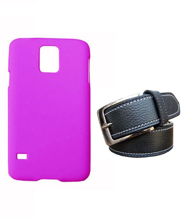Winsome Deal Black Belt with Back Cover Case for Samsung Galaxy S5 I9600/G9000