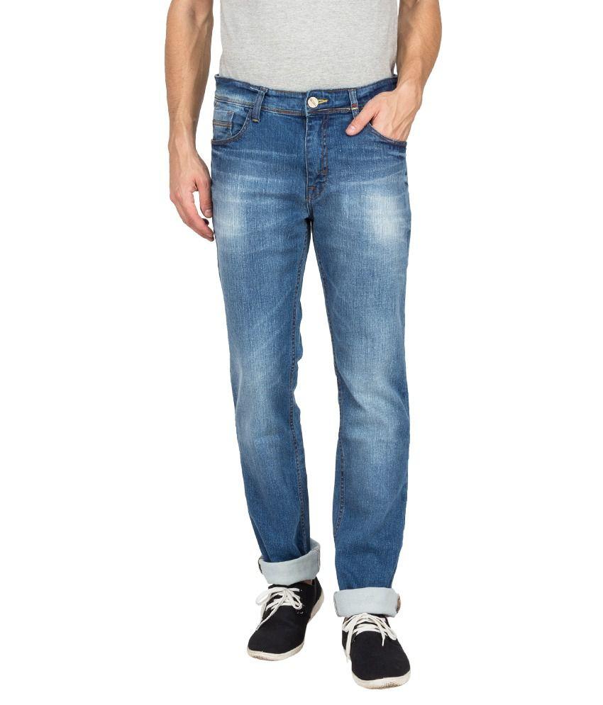 Derby Jeans Community Blue Cotton Blend Jeans