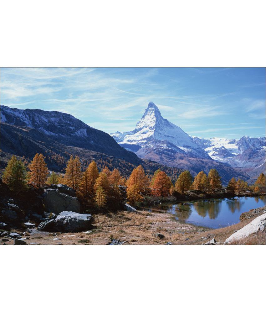 Retcomm Art Digital Print Wall Art Snowy Peak Landscape Painting