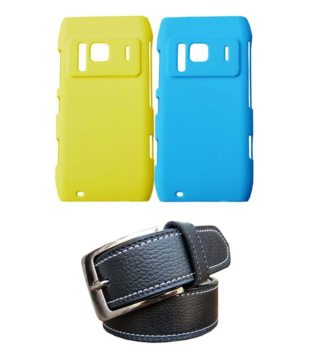 Winsome Deal Black Belt with 2 Back Cover Cases for Nokia N8