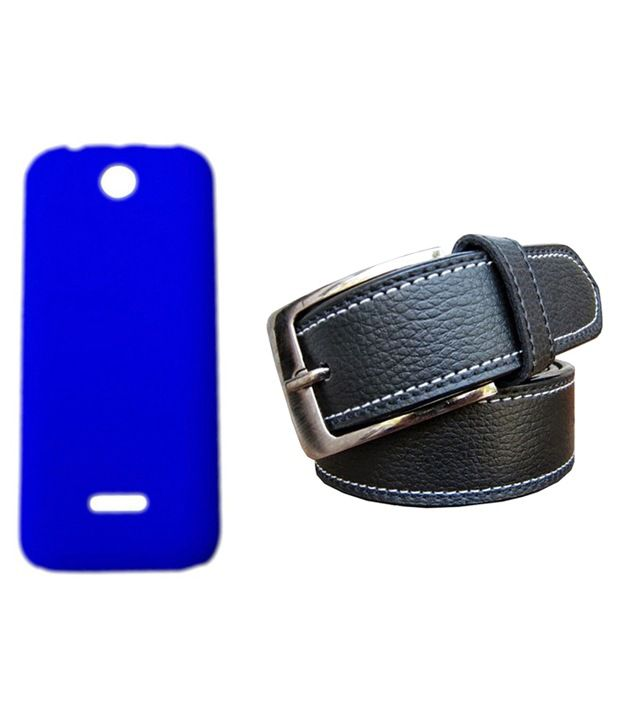 Winsome Deal Black Belt with Back Cover Case for Nokia Asha 225
