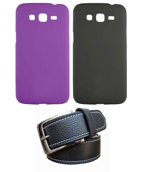 Winsome Deal Black Belt with 2 Back Cover Cases for Samsung Galaxy Grand Neo I9060