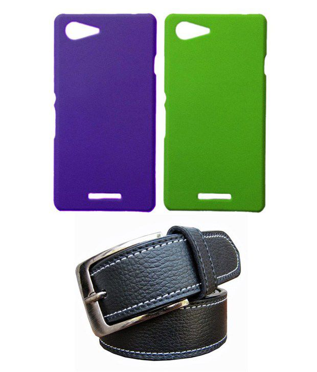 Winsome Deal Black Belt with 2 Back Cover Cases for Sony Xperia E3