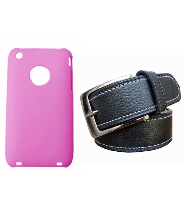 Winsome Deal Black Belt with Back Cover Case for Apple Iphone 3G