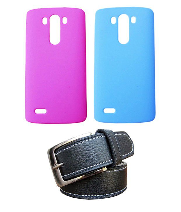 Winsome Deal Black Belt with 2 Back Cover Cases for LG G3