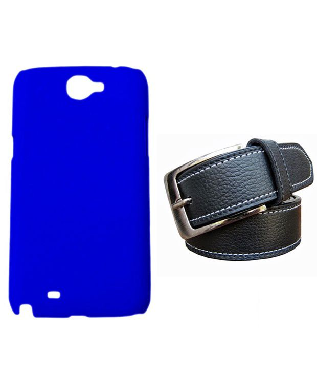 Winsome Deal Black Belt with Back Cover Case for Samsung Galaxy Note2 N7100