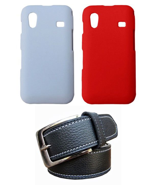 Winsome Deal Black Belt with 2 Back Cover Cases for Samsung Galaxy Ace S5830