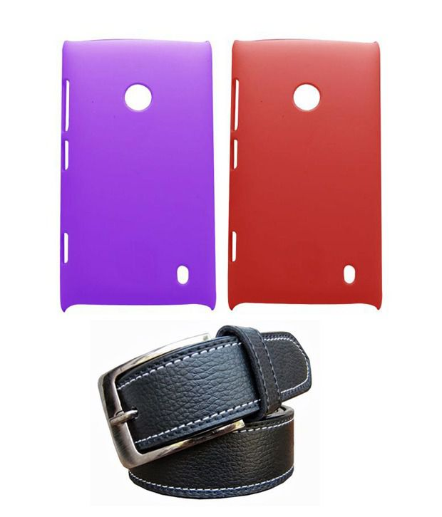 Winsome Deal Black Belt with 2 Back Cover Cases for Nokia Lumia 520