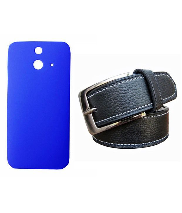 Winsome Deal Black Belt with Back Cover Case for HTC E8