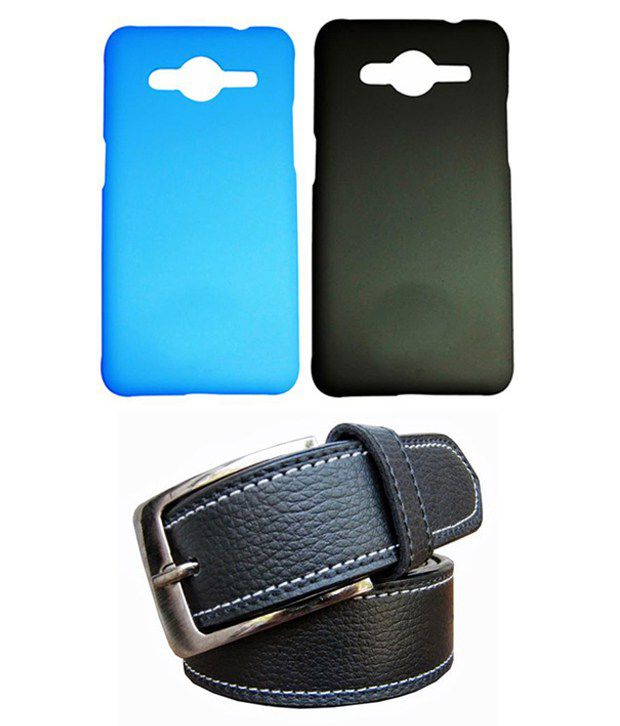 Winsome Deal Black Belt with 2 Back Cover Cases for Samsung Galaxy Core 2