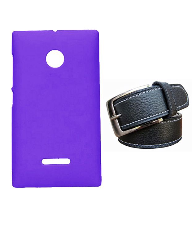Winsome Deal Black Belt with Back Cover Case for Nokia Lumia 532