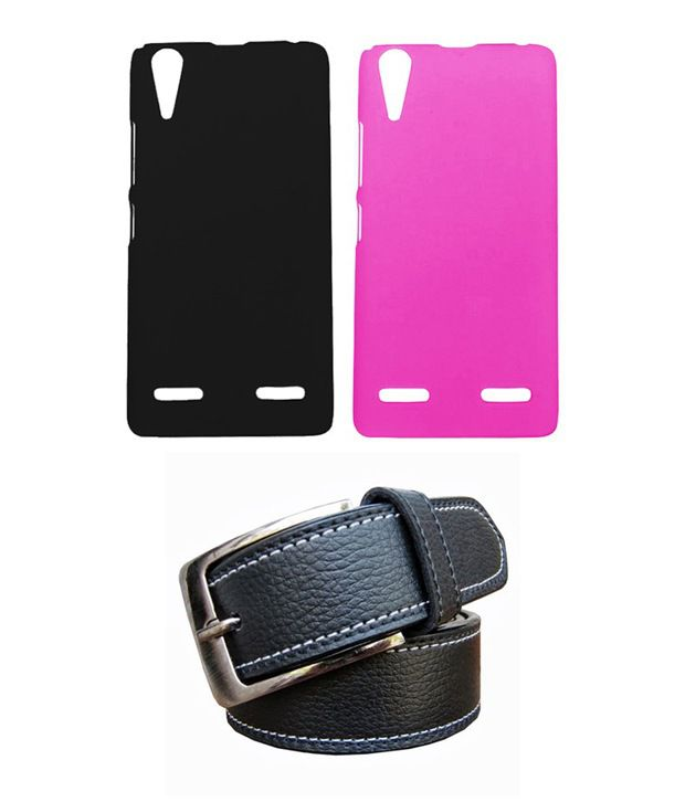 Winsome Deal Black Belt with 2 Back Cover Cases for Lenovo K3 A6000