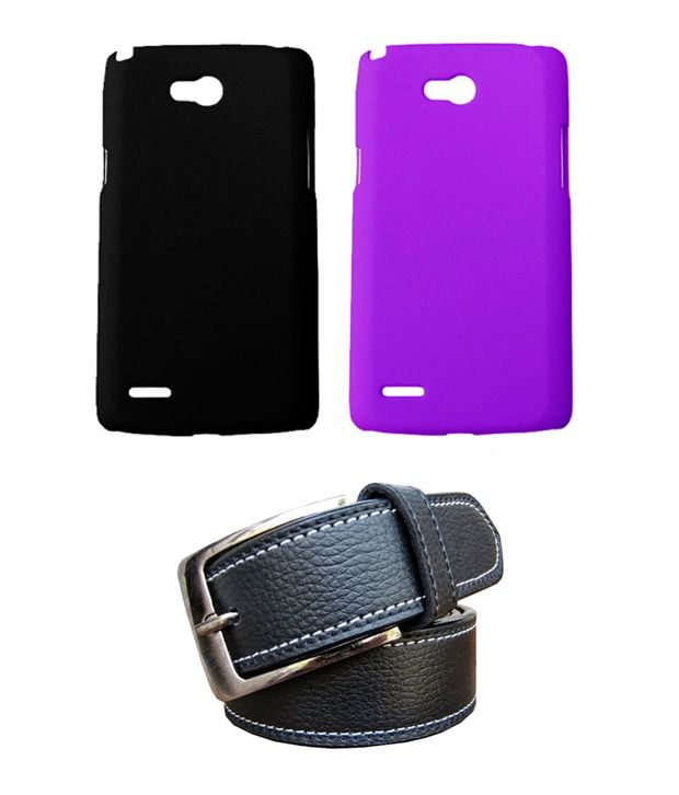 Winsome Deal Black Belt with 2 Back Cover Cases for LG L80