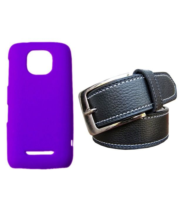 Winsome Deal Black Belt with Back Cover Case for Nokia Asha 311